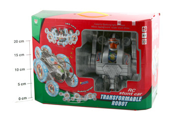 Упр. радио Робот-трансформер ВОХ FullFunk Transformable robot (муз. , свет) 23*23*15см ,  арт.  SY3803-22