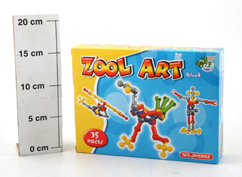 Конструктор ВОХ Zool Art block  35 дет. ,  арт. JH5862