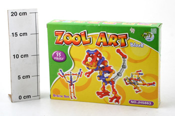 Конструктор ВОХ Zool Art block  55 дет. ,  арт. JH5863