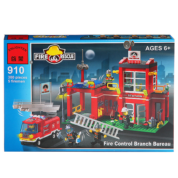 Конструктор пласт.  Fire Rescue,  380 дет,  41*28*6, 5см,  BOX,  ENLIGHTEN арт. 910