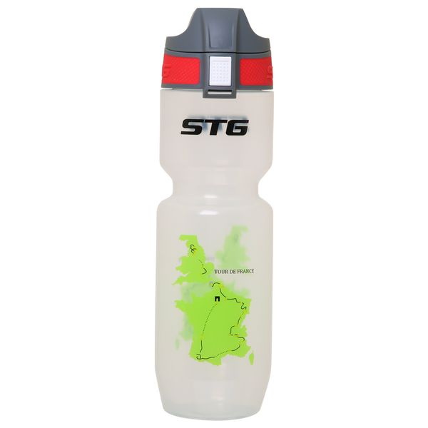 "Велофляга STG 750мл  ""Tour de France"" TRANSPARENT,  ED-BT21"