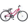 "Велосипед NOVATRACK 24"",  Lady,  красный,  рама сталь,  Shimano 18 speed,  TY21/TZ30/RS35/SG-6SI #110376"